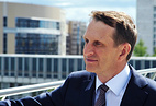 Russia's Foreign Intelligence Service Director Sergei Naryshkin