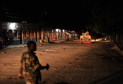 African Union Mission in Somalia soldier during a night patrol in Somalia (archive)