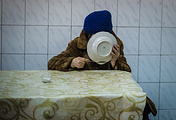 In a meal center, Luhansk region