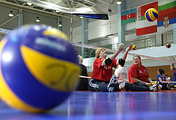 Russian Paralympians seen during training session