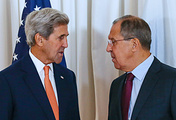 US State Secretary John Kerry and Russian Foreign Minister Sergey Lavrov