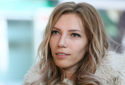 Singer Yulia Samoilova seen at Sheremetyevo International Airport