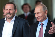 Yandex CEO Arkady Volozh and Russian President Vladimir Putin