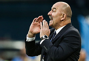 Russia's head coach Stanislav Cherchesov in the 2018 FIFA World Cup Group A Round 2 football match against Egypt at St Petersburg Stadium