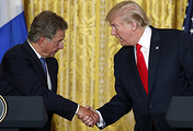 US President Donald Trump and Finnish President Sauli Niinisto