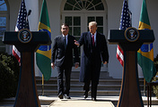 Brazilian President Jair Bolsonaro and US President Donald Trump
