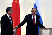 Chinese Foreign Minister Wang Yi and Russian Foreign Minister Sergey Lavrov