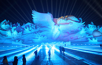 The Harbin International Ice and Snow Sculpture Festival officially opened on January 5, 2018