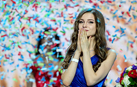 Yulia Polyachikhina wins the crown in the final show of the 2018 Miss Russia National Beauty Contest