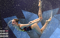 Russia compete in the Team Free Routine Final at the Glasgow 2018 European Synchronised Swimming Championships, Glasgow, August 4