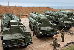 S-400 long-range air defense missile systems