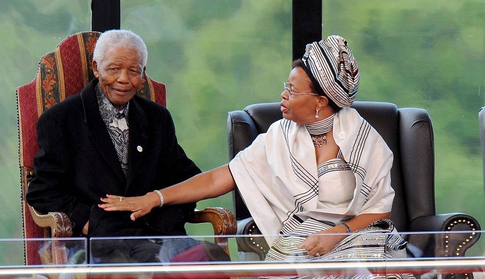 Nelson Mandela and his wife