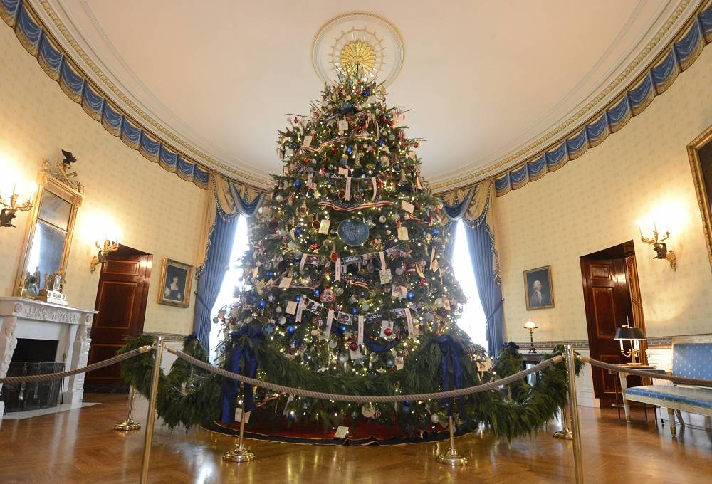 Christmas tree in the White House in the U.S.