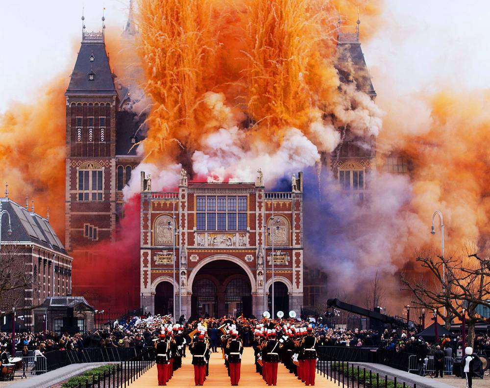 Opening ceremony for the Rijksmuseum (State Museum) of Amsterdam after decade-long renovation. April 13, 2013.