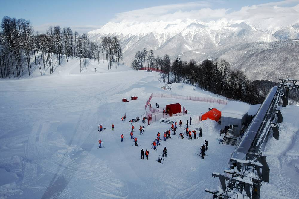 Rosa Khutor Alpine skiing complex takes up an area of 1,820 hectares