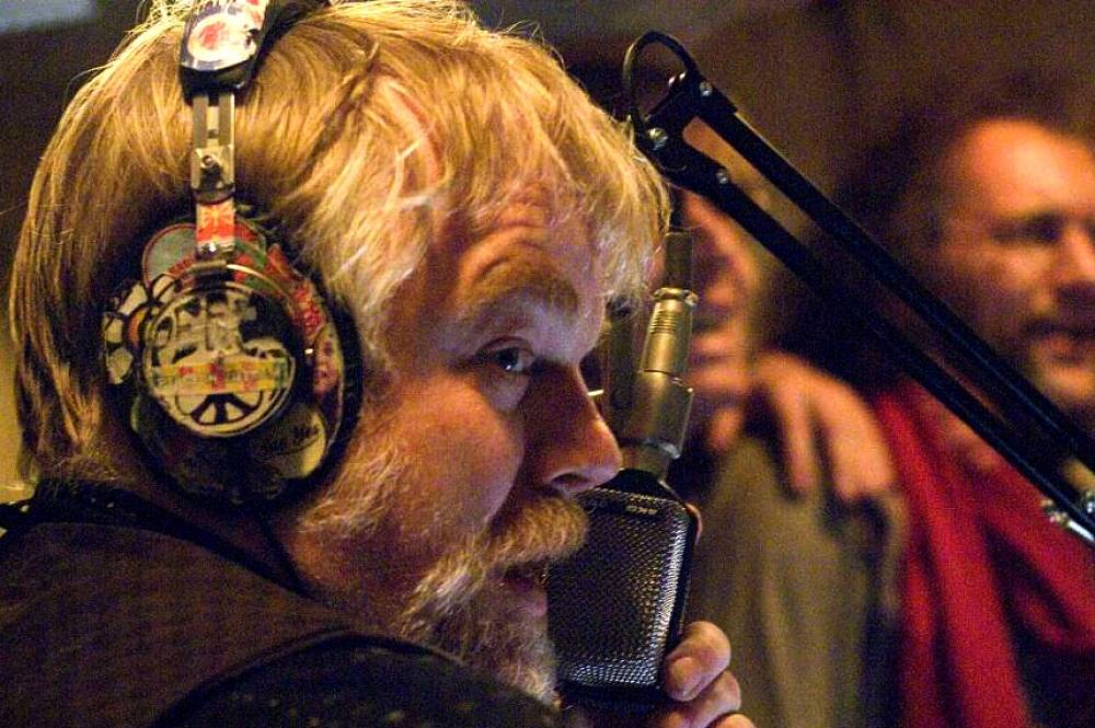 "Hoffman starring in Richard Curtis' ""The Boat that Rocked"" in 2009"