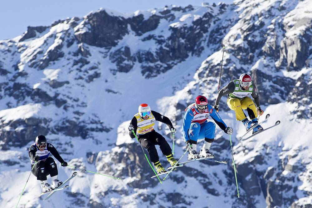 Men's Ski Cross race of the World Cup in Val Thorens, France on Dec. 15, 2013
