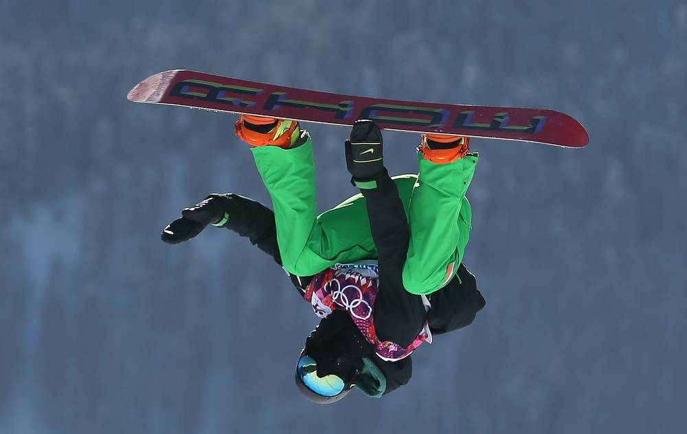 Everything's right with the image. It's just Seamus O'Connor of Ireland who is uoside down in men's Snowboard Slopestyle qualification