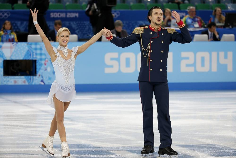 Russia's Olympic gold medalist Tatiana Volosozhar in Vancouver and Turin performed for Ukraine in pair with Stanislav Morozov