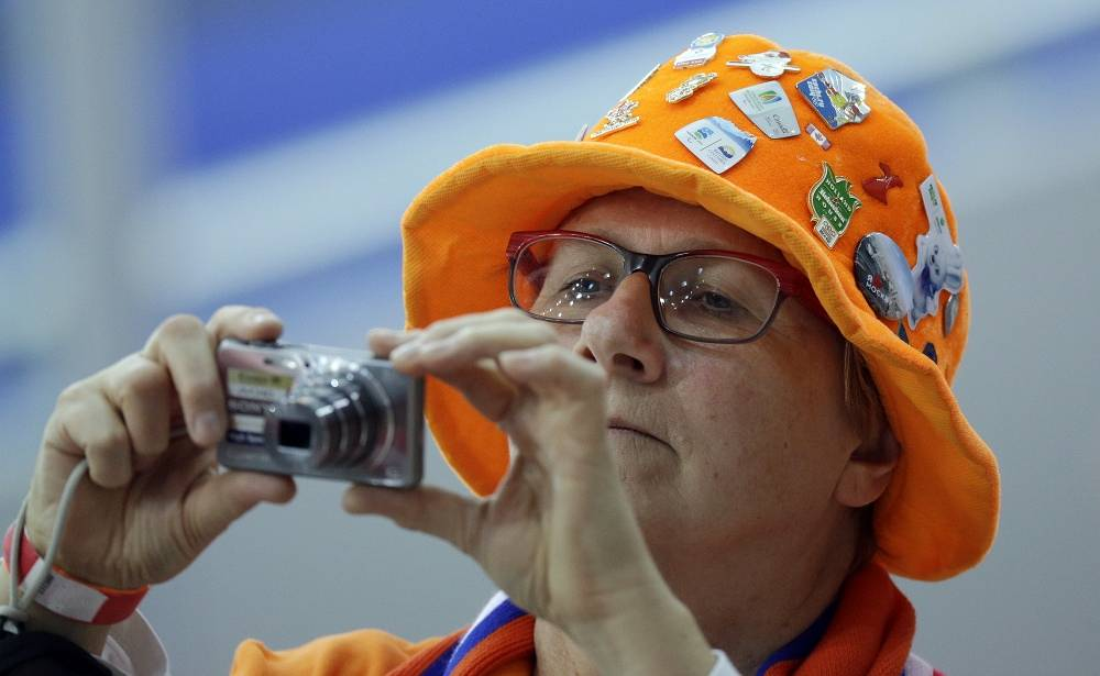 Dutch fan at speed skating events