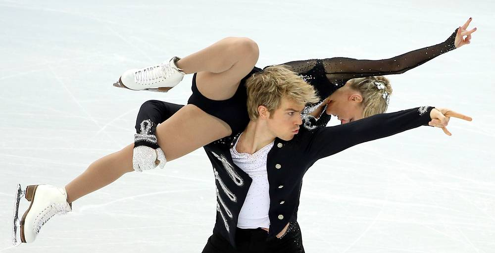 Penny Coomes and Nicholas Buckland of Great Britain