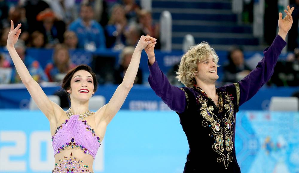 US ice dancers Meryl Davis and Charlie White won gold