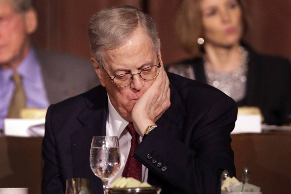 Co-owner (with brother Charles Koch) and an executive vice president of Koch Industries David Koch, $40 bln