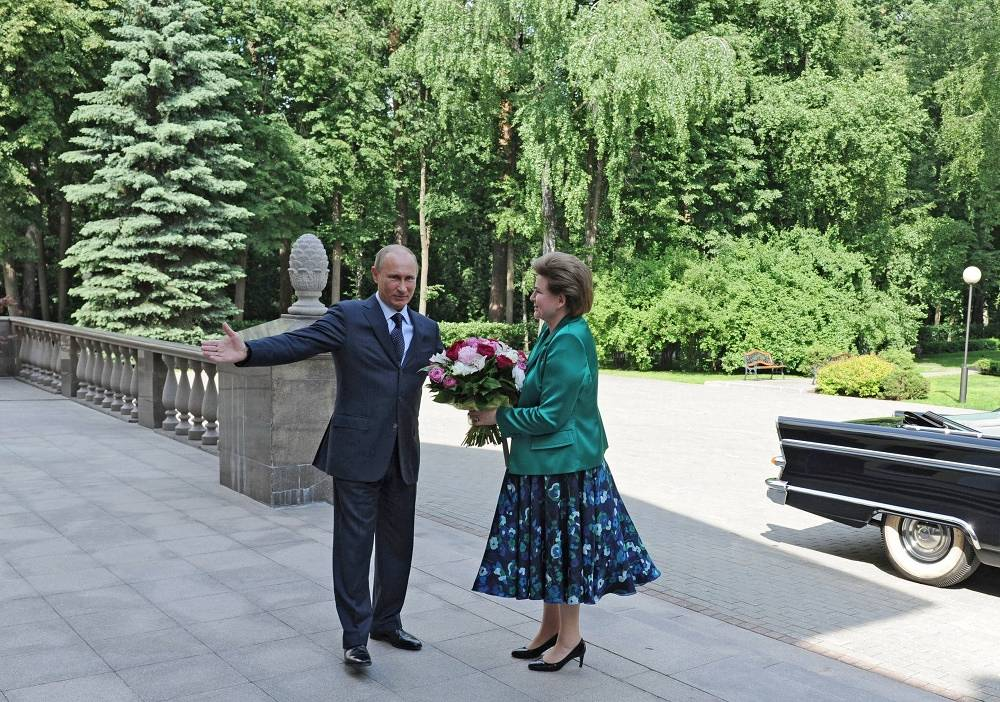 Valentina Tereshkova and Vladimir Putin