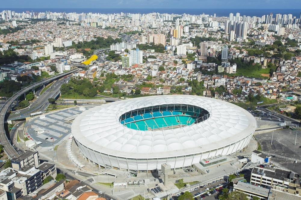Fonte Nova stadium in Salvador was built in 1951. In 2007 the authorities announced it would be rebuilt to have the capacity of 66,000 people