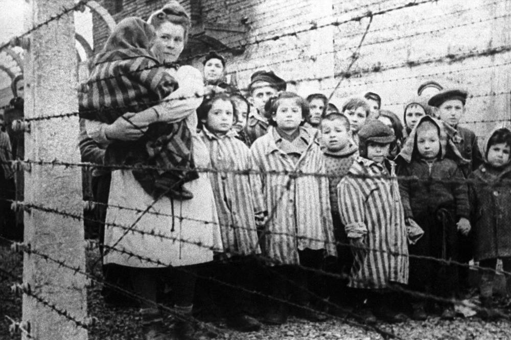 Children at the Auschwitz concentration camp