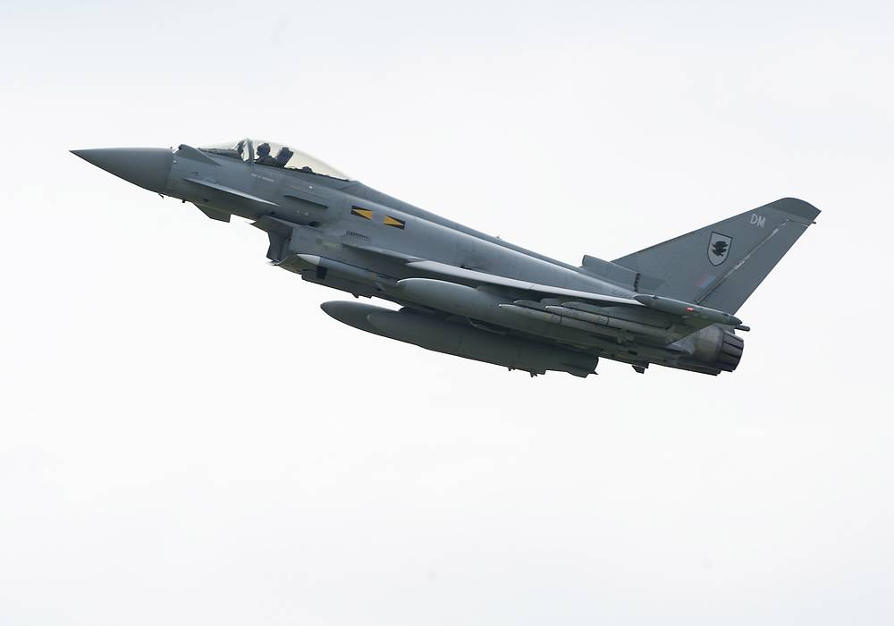 Royal Air Force Typhoon aircraft deployed to take part in the NATO Baltic Air Policing (BAP) mission