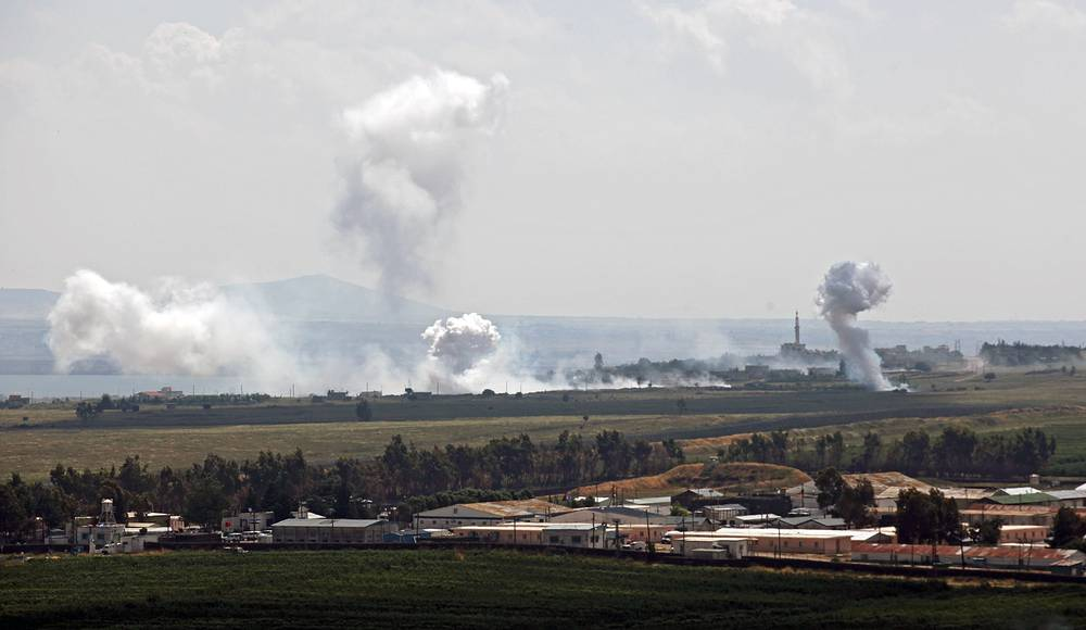 Clashes near Syria's border with Israel