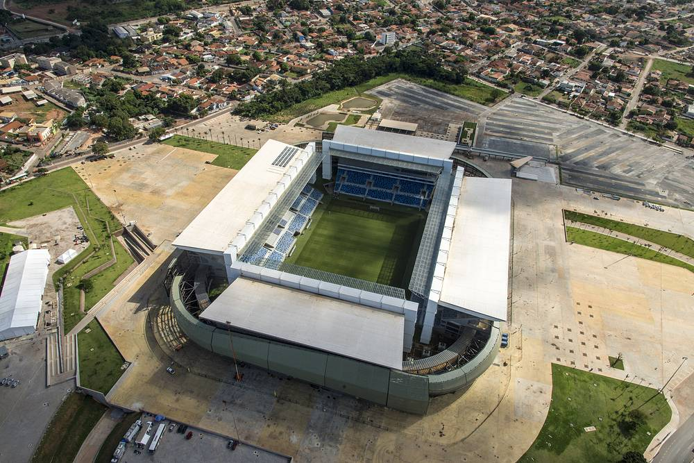 Arena Pantanal stadium in Cuiaba has the capacity of 42,968 people. The project cost $210 million and will host four matches of the World Cup group stage