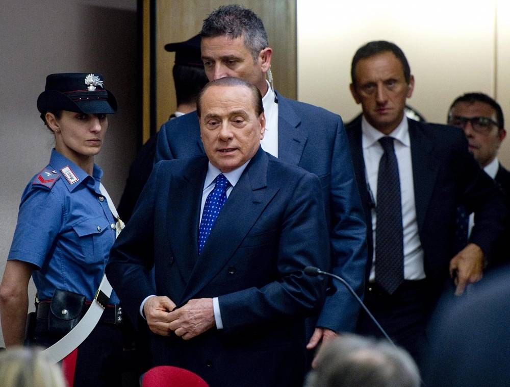 In August 2013 former prime minister of Italy Silvio Berlusconi was sentenced to four years in prison for financial fraud. Later, however, the prison term was changed to community service due to Berlusconi's age