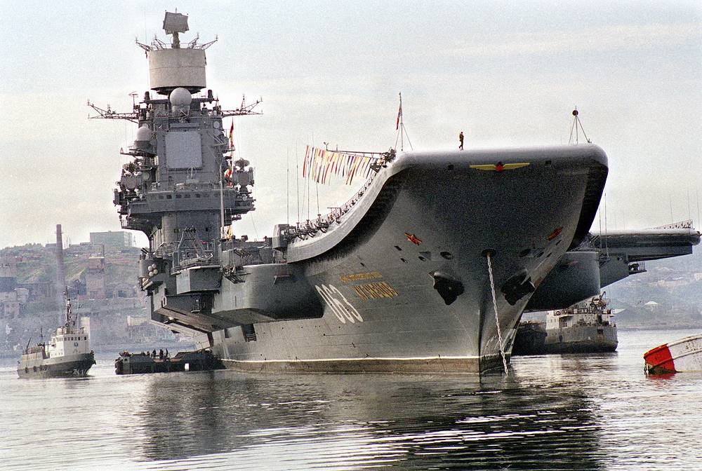 The only Russian aircraft carrier, Admiral Kuznetsov, was commissioned in 1990