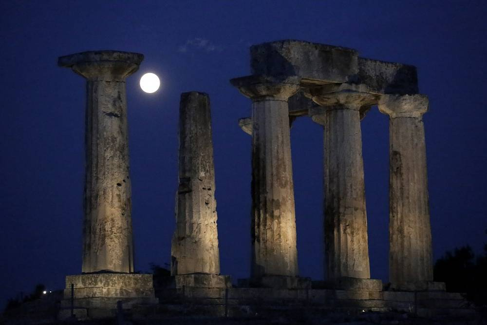 Supermoon in Greece