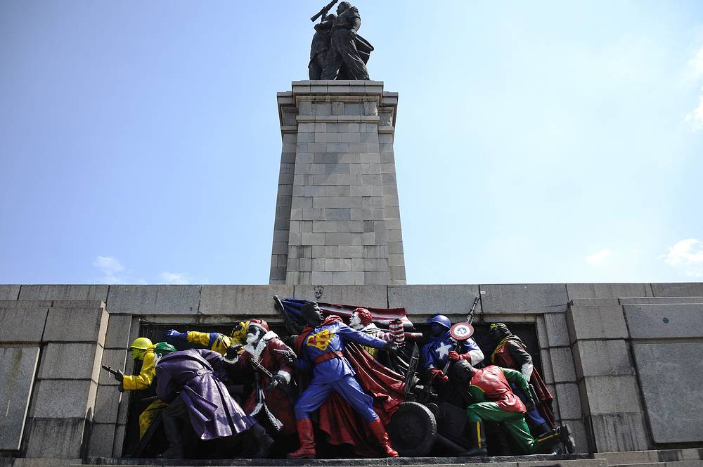 A monument to Soviet liberator soldiers in Bulgaria vandalized in June 2011