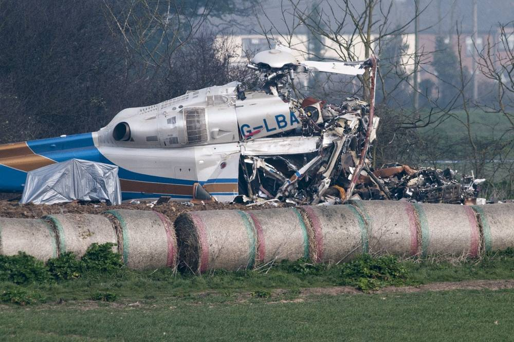 On 14 March 2014 the AgustaWestland AW139 came down in a field near the village of Gillingham