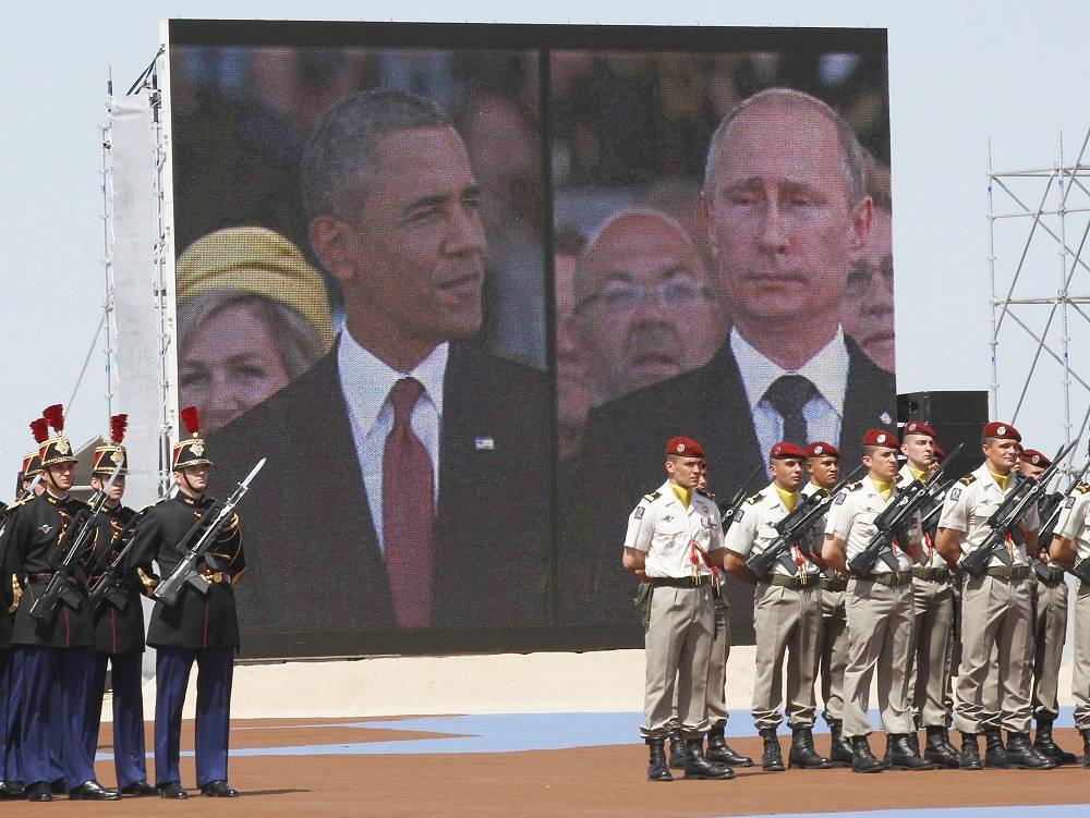 Next time two leaders met in June 2014 during the commemoration of the 70th anniversary of the D-Day in Ouistreham, western France. It was the first meeting between Putin and Obama after the aggravation of the situation in Ukraine and the imposition of anti-Russian sanctions