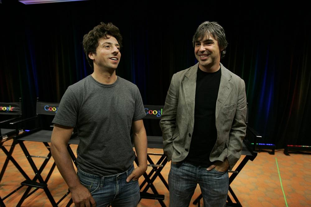9. Google founders Sergey Brin and Larry Page