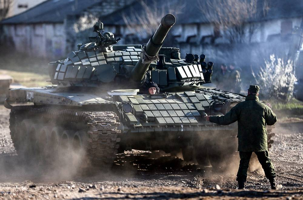The T-72 is a Soviet second-generation main battle tank that entered production in 1971. Photo: New modified Russian T-72 tank
