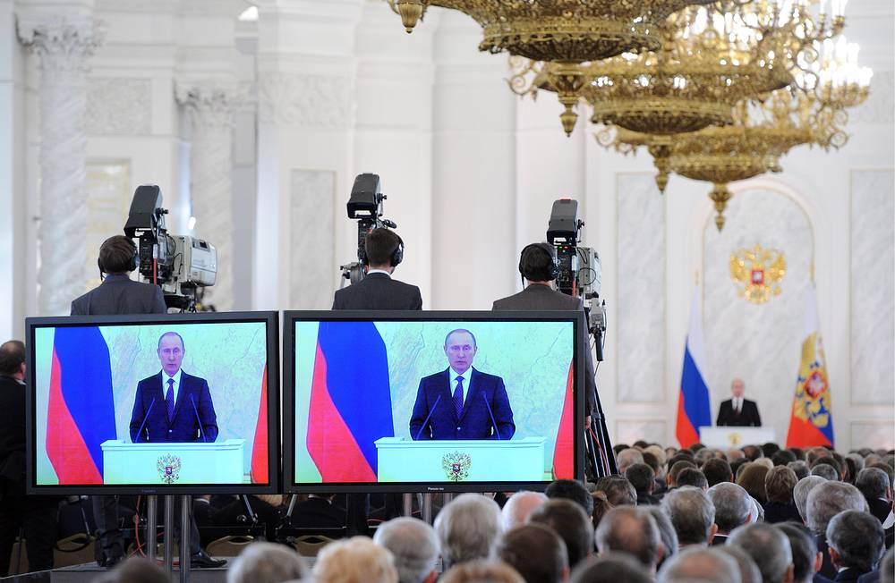 In 2013, the state-of-the-nation address was also delivered on December 12, when Russia marked the 25th anniversary of its Constitution