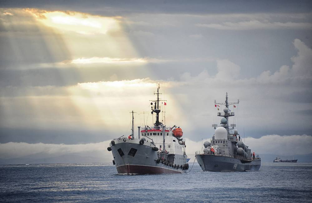 Naval exercises in Russia's Eastern Military District