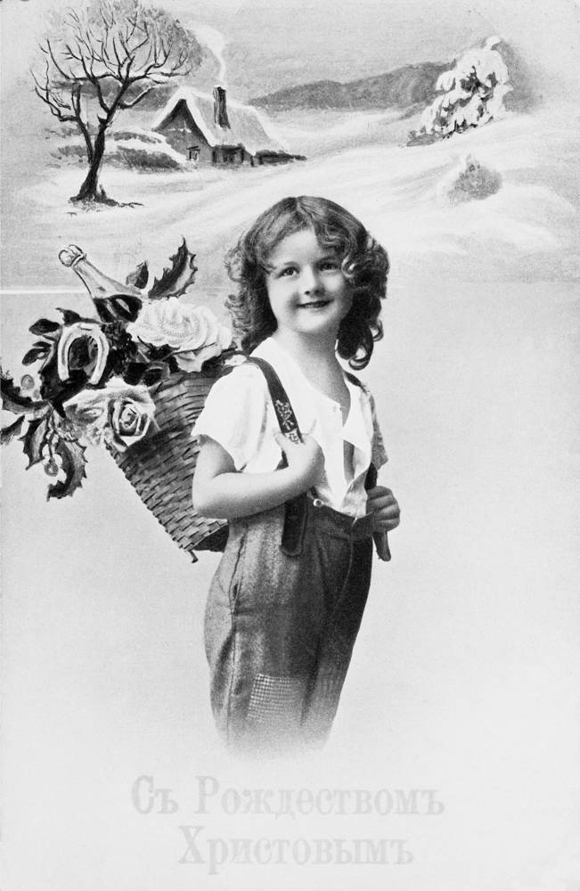 Reproduction of Christmas postcard, 1912