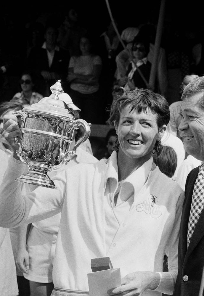 Australia's Margaret Court won a record 24 of Grand Slam titles, among which 11 were Australian Open. Margaret Court Arena in Melbourne was named after her. Photo: Margaret Court, 1973