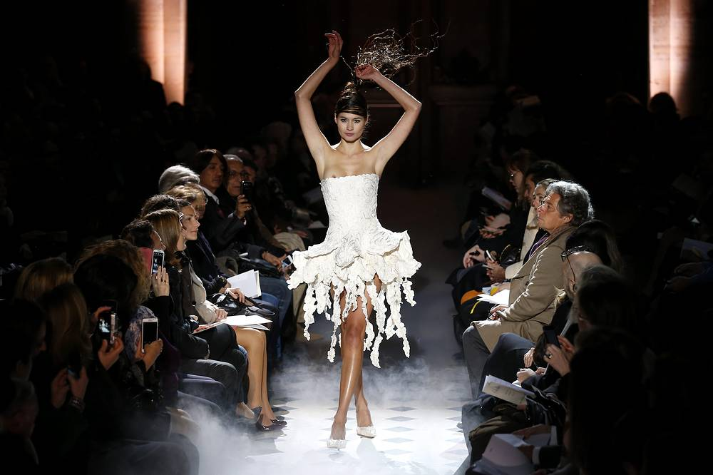 Collection by Franck Sorbier during the Paris Fashion Week