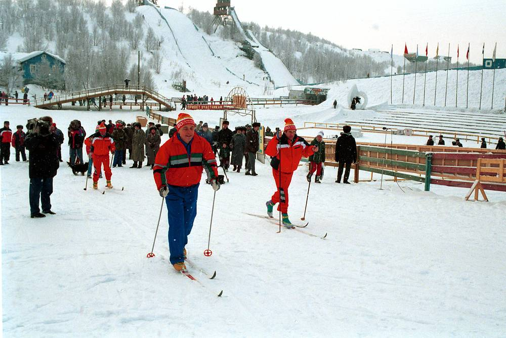 In 1992, Andrei Kozyrev, together with Ministers of Foreign Affairs from the Baltic Sea area and an EU commissioner, founded the Council of the Baltic Sea States. Photo: Andrei Kozyrev in Russia's northwestern city of Murmansk, 1994