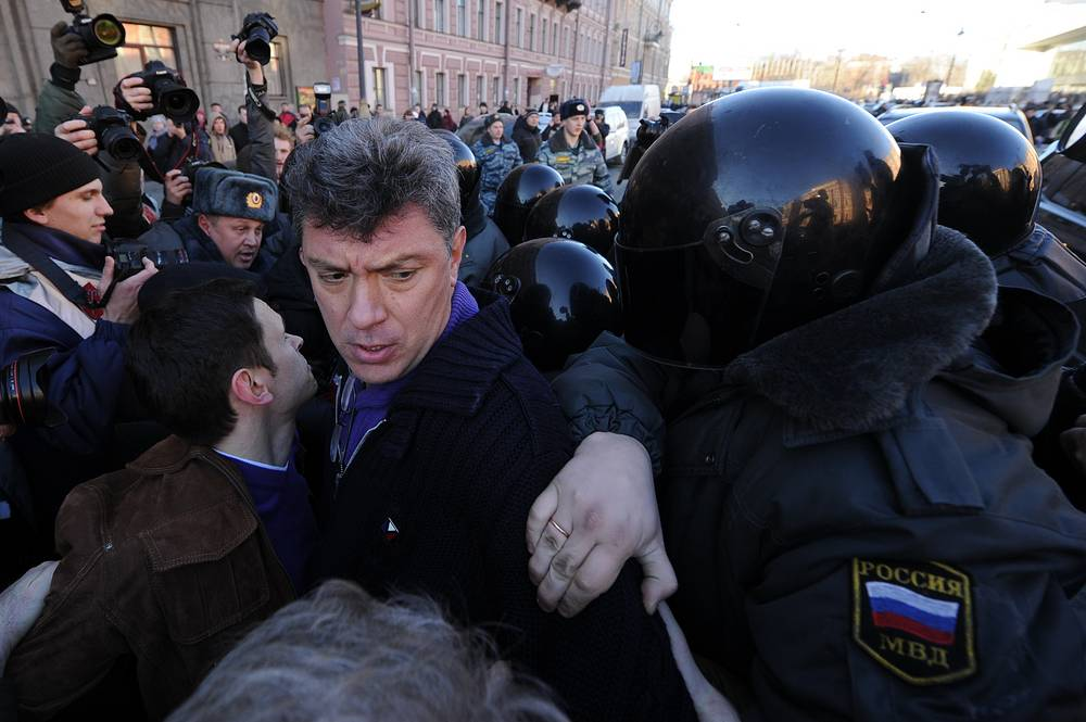 In 2011-2012 Boris Nemtsov participated in organization of opposition rallies