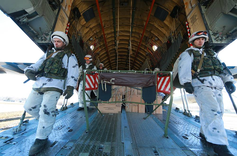 On March 17 large units of airborne forces started redeployment to a predetermined area