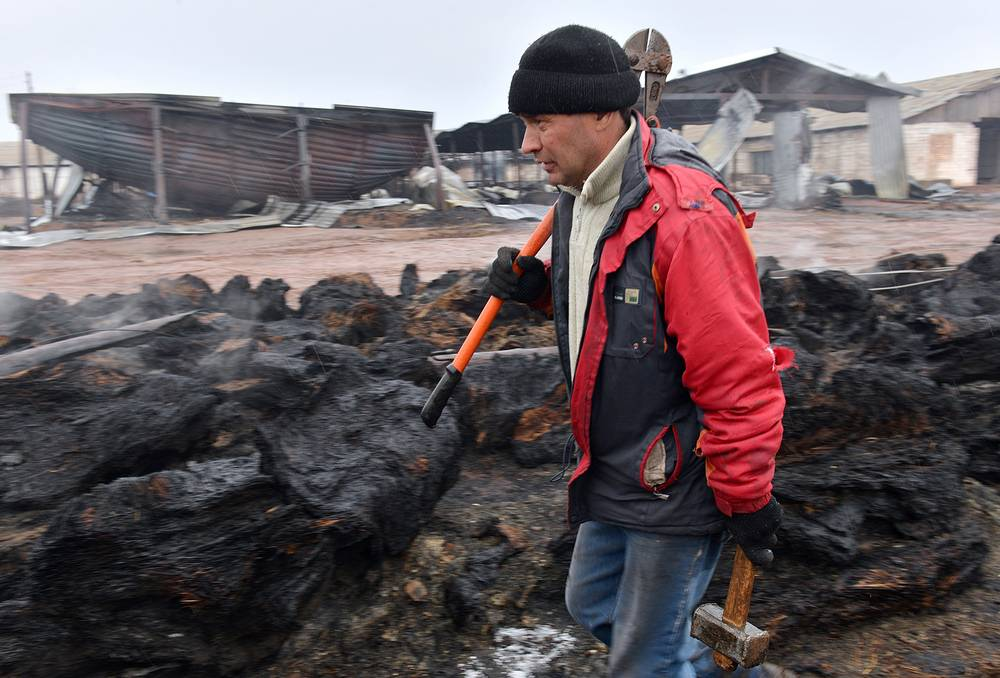 The aftermath of the fire in Khakassia